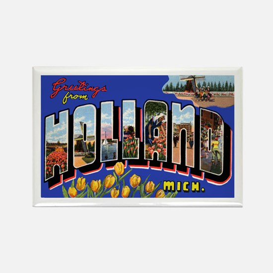 Holland Michigan Greetings Rectangle Magnet