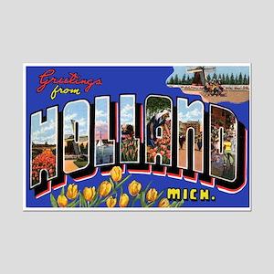 Holland Michigan Greetings Mini Poster Print