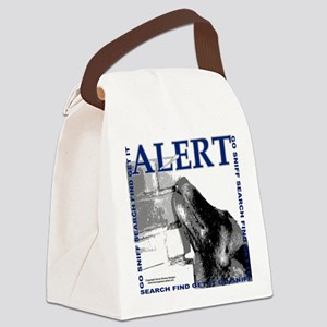 Belgian Malinois Alert Nose work  Canvas Lunch Bag