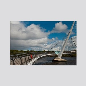 Peace Bridge Rectangle Magnet