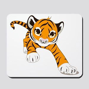 Little Prowling Tiger Cub Mousepad