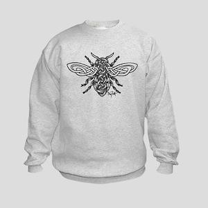 Celtic Knotwork Bee - black lines Sweatshirt