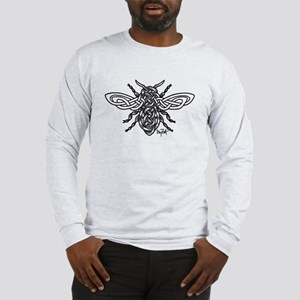 Celtic Knotwork Bee - black lines Long Sleeve T-Sh