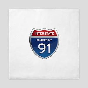 Connecticut Interstate 91 Queen Duvet