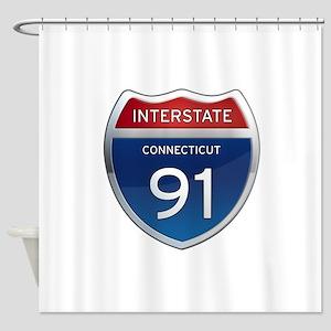 Connecticut Interstate 91 Shower Curtain