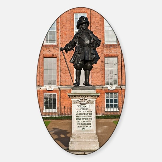 Statue of King William III Sticker (Oval)
