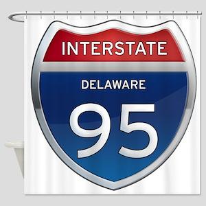 Delaware Interstate 95 Shower Curtain
