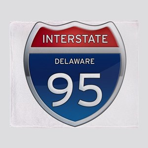 Delaware Interstate 95 Throw Blanket