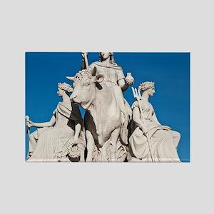 Europe statue in Albert Memorial Rectangle Magnet