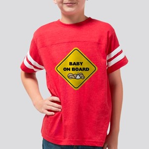 FIN-on-board-baby-brown Youth Football Shirt