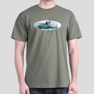 Surfing Wave Dark T-Shirt