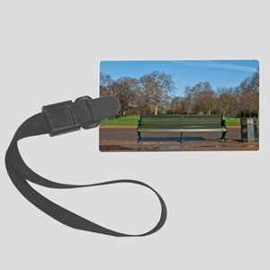 Bench in Hyde Park Large Luggage Tag
