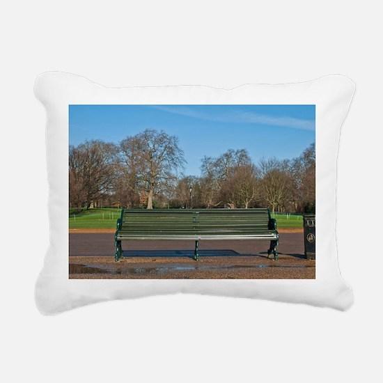 Bench in Hyde Park Rectangular Canvas Pillow