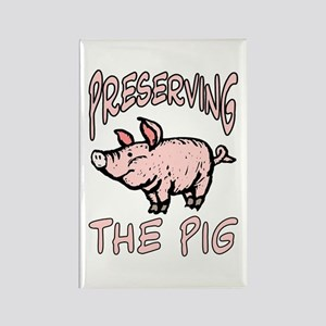 Preserving The Pig Rectangle Magnet