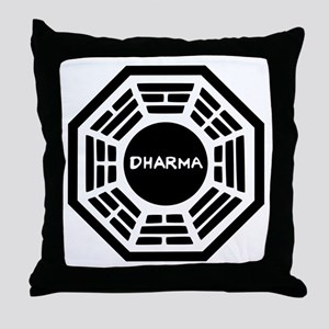 Dharma Initiaive Logo Throw Pillow