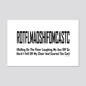 ROTFLMAOSHIFOMCASTC Mini Poster Print