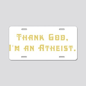 thankgod2 Aluminum License Plate