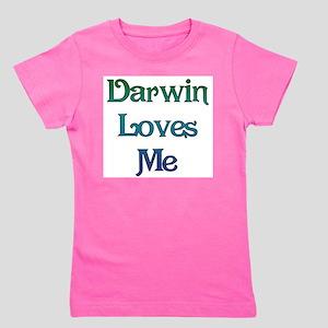 Darwin Loves Me Girl's Tee