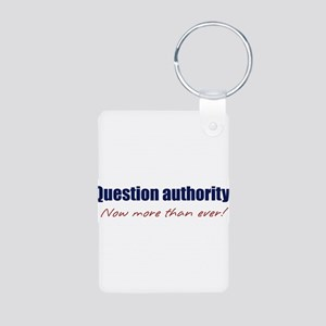 questionauthority Aluminum Photo Keychain