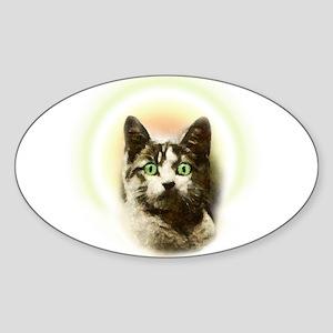 God Cat Sticker (Oval)