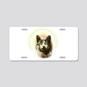 God Cat Aluminum License Plate