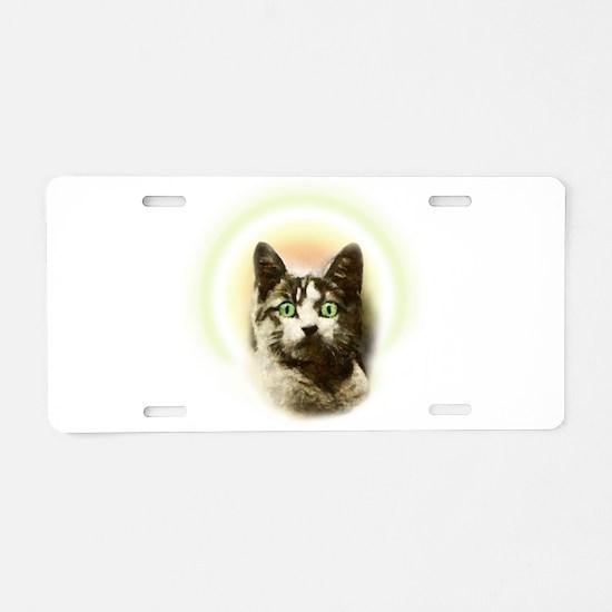 God Cat Aluminum License Plate