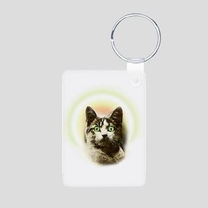 God Cat Aluminum Photo Keychain