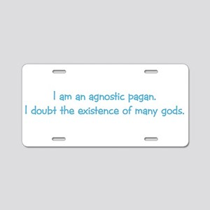 Agnostic Pagan Aluminum License Plate