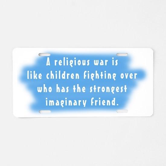 imaginary friends dark.png Aluminum License Plate