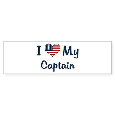 Captain: Flag Love Bumper Sticker