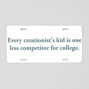 creationists kid Aluminum License Plate