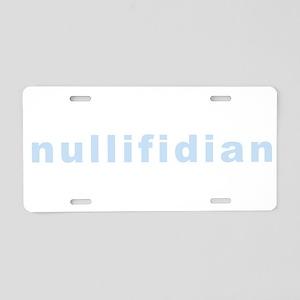 nullifidian Aluminum License Plate