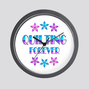 Quilting Forever Wall Clock