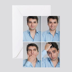 Businessman expressions Greeting Card