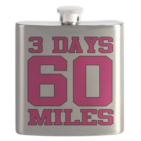 3 Days 60 Miles Flask