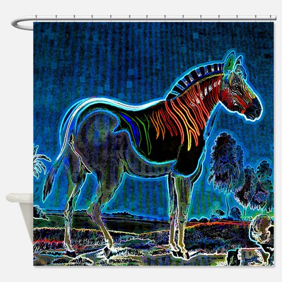 Electric Zorse Shower Curtain