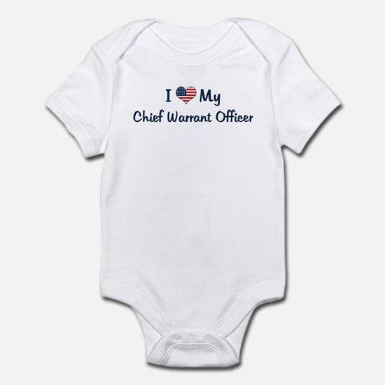 Chief Warrant Officer: Flag L Infant Bodysuit