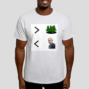 More Trees Less Bush Ash Grey T-Shirt