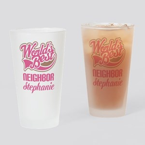 Worlds Best Neighbor Personalized Drinking Glass