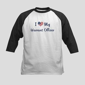 Warrant Officer: Flag Love Kids Baseball Jersey