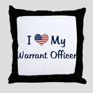 Warrant Officer: Flag Love Throw Pillow