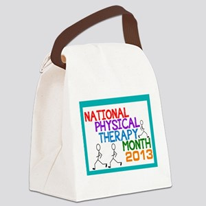 PHYSICAL THERAPY MONTH 2013 CARD Canvas Lunch Bag