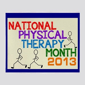 PHYSICAL THERAPY MONTH 2013 CARD 2 Throw Blanket
