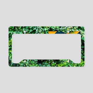 Attention road sign  License Plate Holder