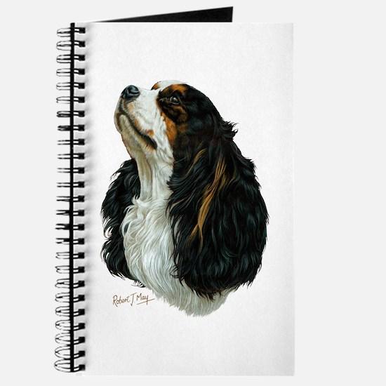 Unique Cavalier king charles spaniel art Journal