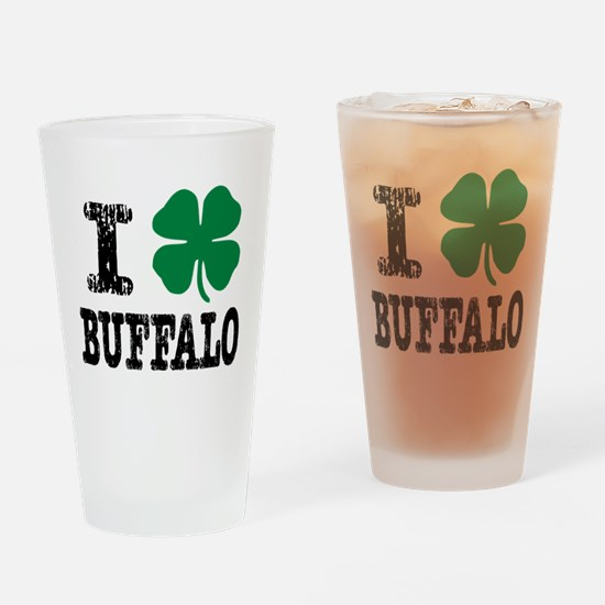 Buffalo Irish Drinking Glass