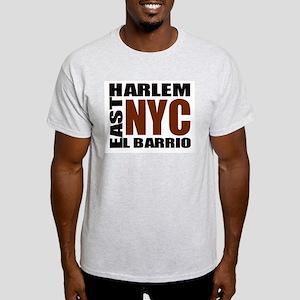 "East Harlem ""El Barrio"" Squar Ash Grey T-Shirt"