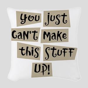 Stuff Up! - Woven Throw Pillow