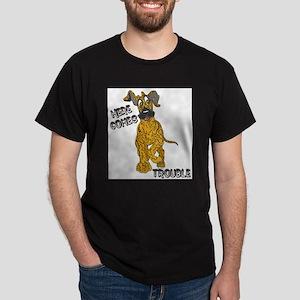 N Brindle Trouble Pup Dark T-Shirt
