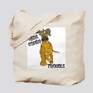 N Brindle Trouble Pup Tote Bag